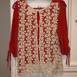 Anthropologie Stitch & Knot Intricate Lace Top